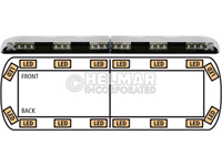 12-00001-E<br>LIGHTBAR (LED AMBER)