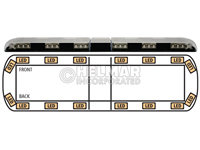 12-00002-E<br>LIGHTBAR (LED AMBER)