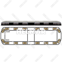 "12-20002-E<br>LIGHTBAR 54"" LED 12-24VDC (AMB"