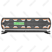 "12-20828-E<br>48"" BAR,16 AMBER LEDS, 2 W LIGHTS FF"