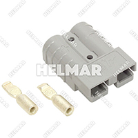 6319G1 CONNECTOR W/CONTACTS (SB50 #10 GRAY)