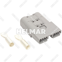 6340G1 CONNECTOR W/CONTACTS (SBX350 2/0 GRAY)