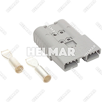6345G1 CONNECTOR W/CONTACTS (SBX350 2/0 GRAY)