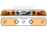 6363011<br>LIGHTBAR (ROTATOR/AMBER)