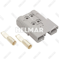 6374G1 CONNECTOR W/CONTACTS (SBX175 1/0 GRAY)