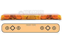 6483011<br>LIGHTBAR (ROTATOR/AMBER)