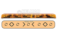 6543001<br>LIGHTBAR (ROTATOR/AMBER)