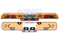 6543050<br>LIGHTBAR (ROTATOR/AMBER)