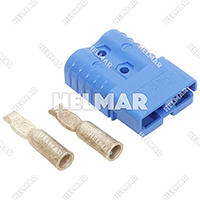 6801G1 CONNECTOR W/CONTACTS (SB120 #2 BLUE)