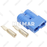 6801G3 CONNECTOR W/CONTACTS (SB120 #6 BLUE)