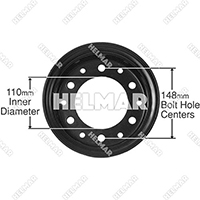 R500-2 STEEL RIM ASSEMBLY