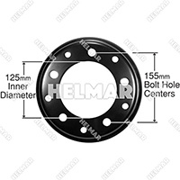 R600-4  STEEL RIM ASSEMBLY
