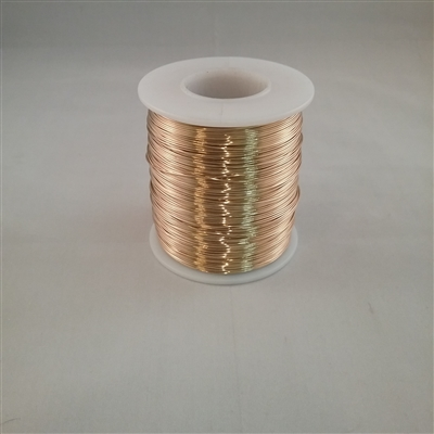 "RED BRASS SOFT WIRE     22 GA .025""  1# SPOOL"
