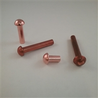 COPPER ROUND RIVET                      3/32 X 3/16