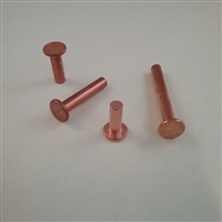 COPPER FLAT RIVET                       3/16 X 1/2