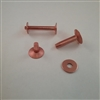 COPPER BELT RIVET & BUR                 #8 X 1