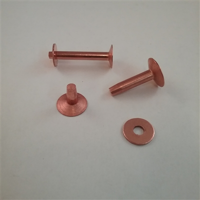 COPPER BELT RIVET & BUR            #12 X 1