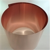 "COPPER SOFT COIL  30 GA .010 X 12"" WIDE"