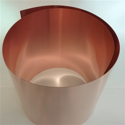 "COPPER SOFT COIL  26 GA .016 X 12"" WIDE"