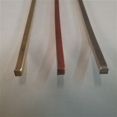 "COPPER SOFT SQUARE WIRE     1/8""  .125"