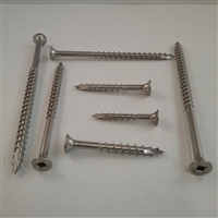 "STAINLESS DECK SCREW  #6 X 1-5/8"" Square"