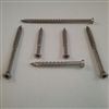 "STAINLESS DECK SCREW  #7 X 1""  Trim Head Square"