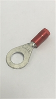XR1894SN - HOLLINGSWORTH - 22/16 awg 1/4 stud ring terminal, Insulated Red Nylon