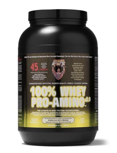 100% Whey Pro-Amino Vanilla 2Lbs.