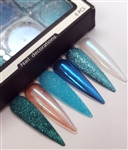AQUA Chrome/Glitter set of 6 pcs #007