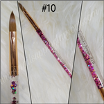 AQUA GLAMOUR KOLINSKY BRUSH #2 3D rose gold