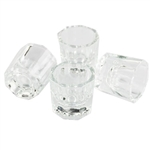 GLASS DAPPEN DISH SET OF 4