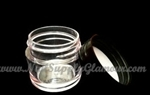 1/4 oz clear PS thick wall jar with lid