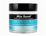 Mia Secret Clear Acrylic Powder 1 oz