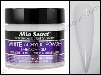 Mia Secret WHITE Acrylic Powder FRENCH 3D 1 oz
