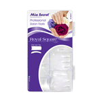MIA SECRET NAILS ROYAL SQUARE 500 TIPS IN ACRYLIC BOX (CLEAR)