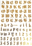 GOLD Calligraphy Stickers (A-Z/0-9)
