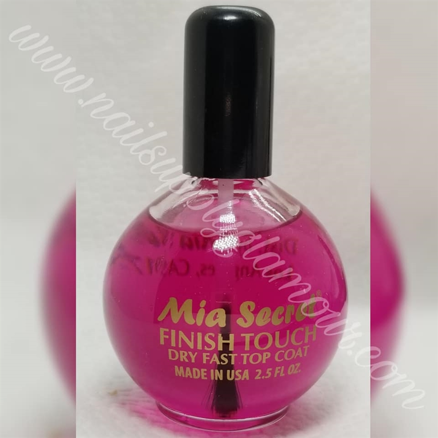 MIA SECRET NAILS CLEAR TOP COAT 2.5 OZ looks pink