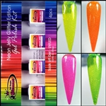 Glamour Neon Jelly Glitter Edition Gel Polish Kit # 1