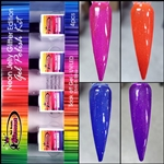 Glamour Neon Jelly Glitter Edition Gel Polish Kit # 2