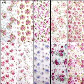 ROSES / FLOWERS Foil Transfer set of 10 designs