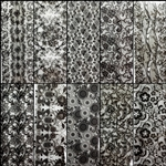 BLACK LACE Foil Transfer set of 10 designs