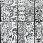 WHITE LACE Foil Transfer set of 10 designs