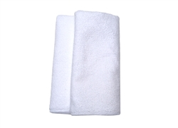White Microfiber Drying Towels