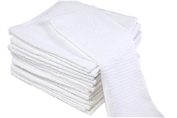 Quality Microfiber Waffle Weave Towels Bright White