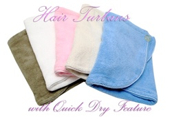 Plush Microfiber Hair Turbans