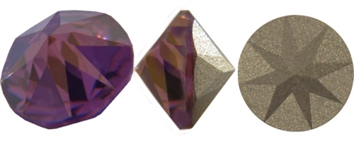 108829AMY - Swarovski Crystal 6.2mm Chaton Crystals - Amethyst Foiled Pointed Top - 1 Chaton