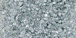 Miyuki 10/0 Triangle Beads 10 Grams 10TR1105 ICL* Clear/Silver