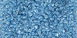 Miyuki 10/0 Triangle Beads 10 Grams 10TR1116 ICL Clear/Medium Blue