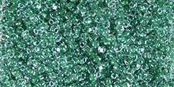 Miyuki 10/0 Triangle Beads 10 Grams 10TR1117 ICL Clear/Hunter Green