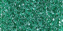Miyuki 10/0 Triangle Beads 10 Grams 10TR1142 ICL Clear/Green